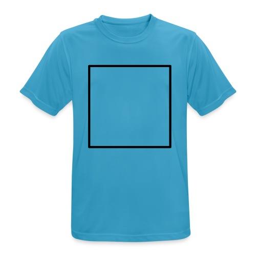 Square t shirt black - Mannen T-shirt ademend actief