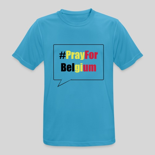 #PrayForBelgium - T-shirt respirant Homme