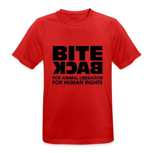 Bite Back logo - Mannen T-shirt ademend actief
