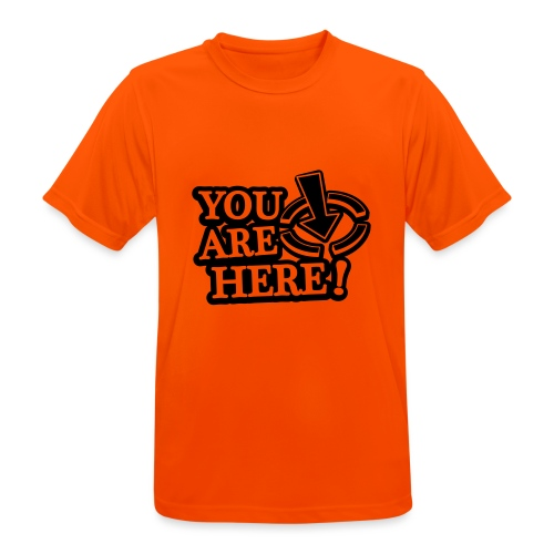 You are here! - Men's Breathable T-Shirt