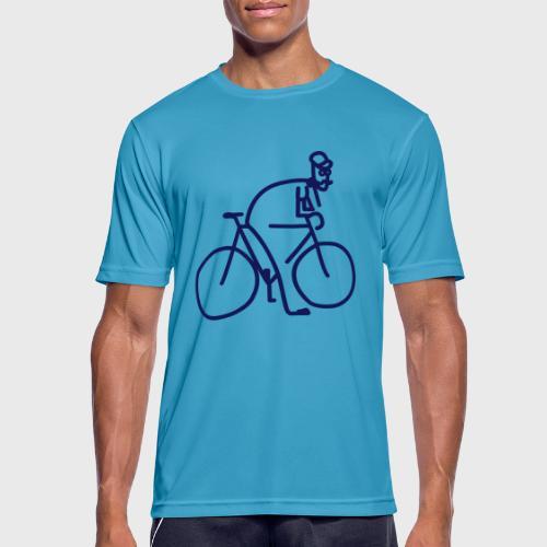 Vélo et cycliste à moustaches - T-shirt respirant Homme