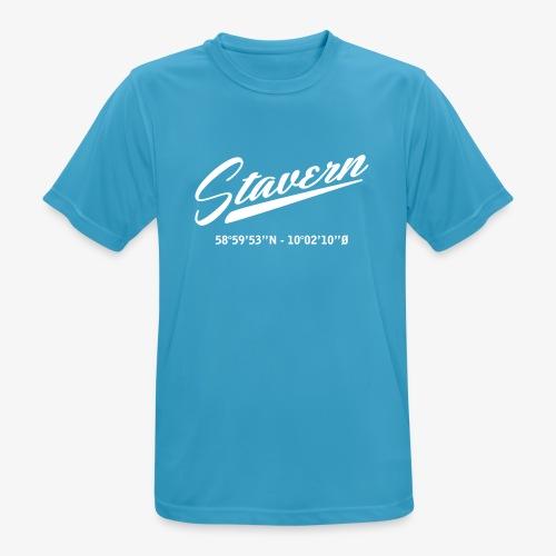 Stavern - Pustende T-skjorte for menn