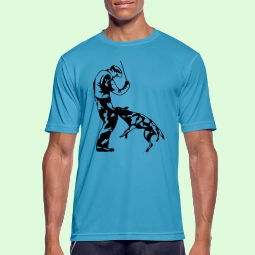 Berger Belge Malinois, l'ombre mordante - T-shirt respirant Homme