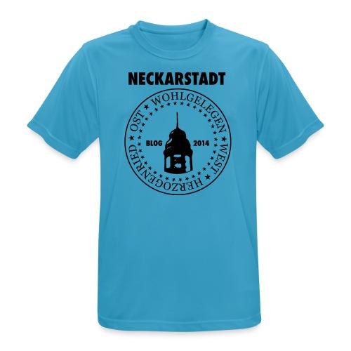 Neckarstadt Blog seit 2014 (Logo dunkel) - Männer T-Shirt atmungsaktiv