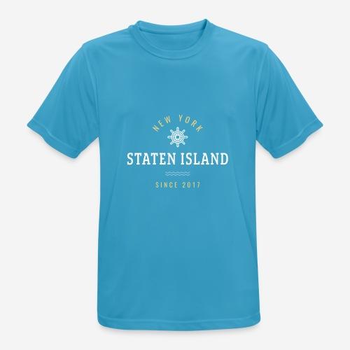 NWE YORK - STATEN ISLAND - Maglietta da uomo traspirante
