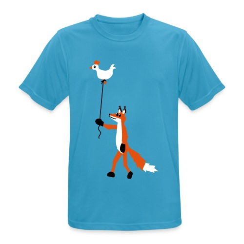Fuchs und Henne - Männer T-Shirt atmungsaktiv