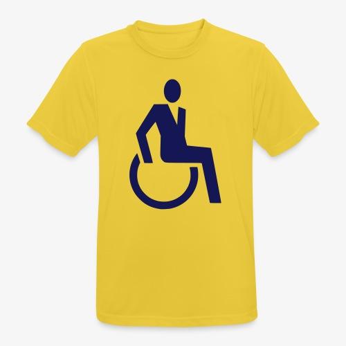 Sjieke rolstoel gebruiker symbool - Mannen T-shirt ademend actief