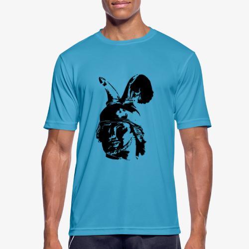 Kopf des Hermannsdenkmals - einfarbig, schlicht - Männer T-Shirt atmungsaktiv