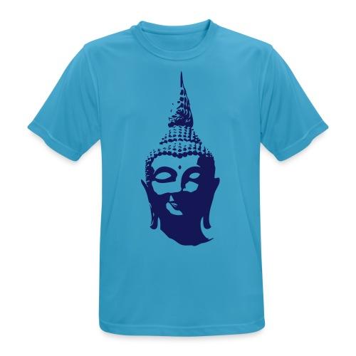 Boeddha hoofd - Mannen T-shirt ademend actief