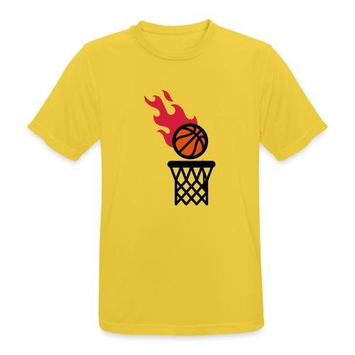 fire basketball - Men's Breathable T-Shirt