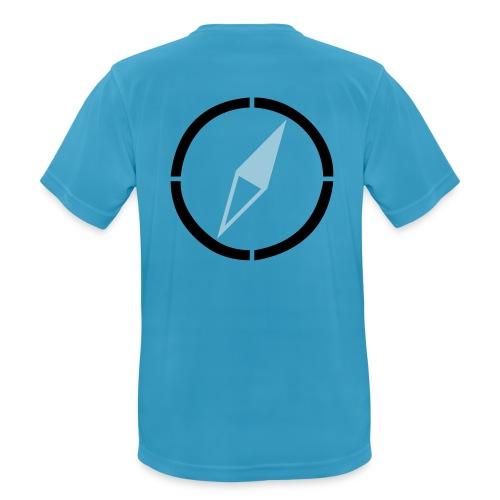 dogsports on track kompass - Männer T-Shirt atmungsaktiv
