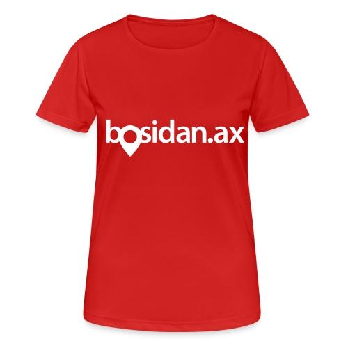 Bosidan.ax officiella logotypen - Andningsaktiv T-shirt dam