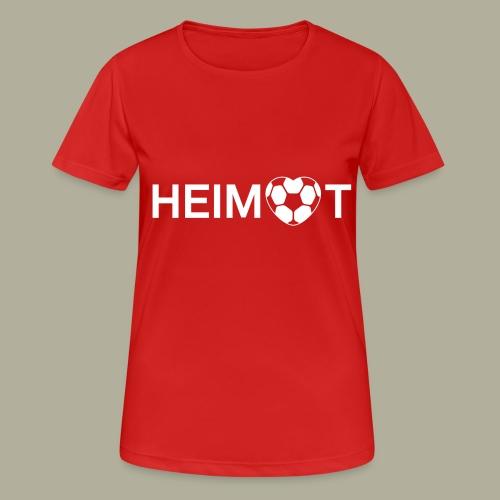 Dortmunder Heimat mit Fußballherz - Frauen T-Shirt atmungsaktiv