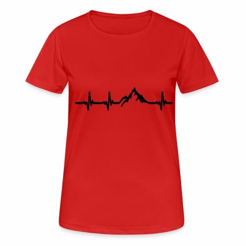 Herzschlag - Berg - Frauen T-Shirt atmungsaktiv