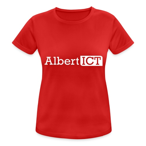 AlbertICT wit logo - vrouwen T-shirt ademend