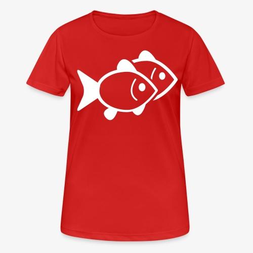 poissons - T-shirt respirant Femme
