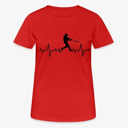Haert line Baseball - T-shirt respirant Femme