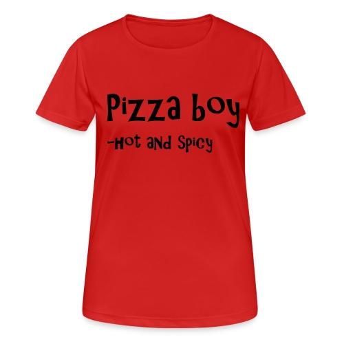 Pizza boy - Pustende T-skjorte for kvinner