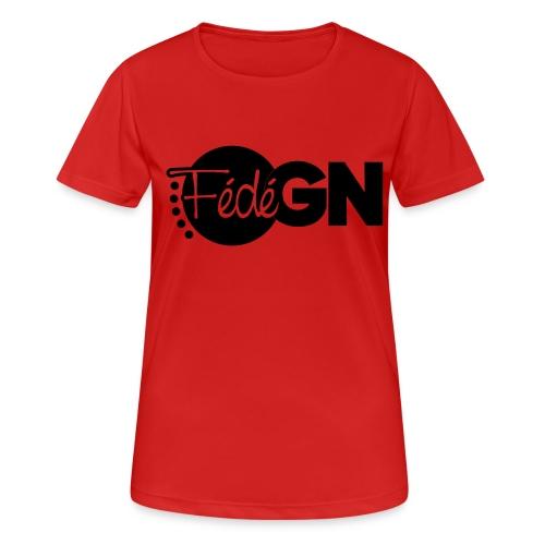 Logo FédéGN pantone - T-shirt respirant Femme