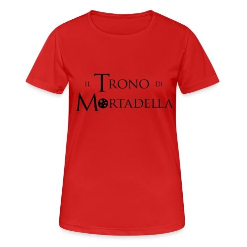 T-shirt donna Il Trono di Mortadella - Maglietta da donna traspirante