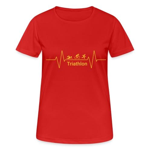 Triathlon Heartbeat - Frauen T-Shirt atmungsaktiv