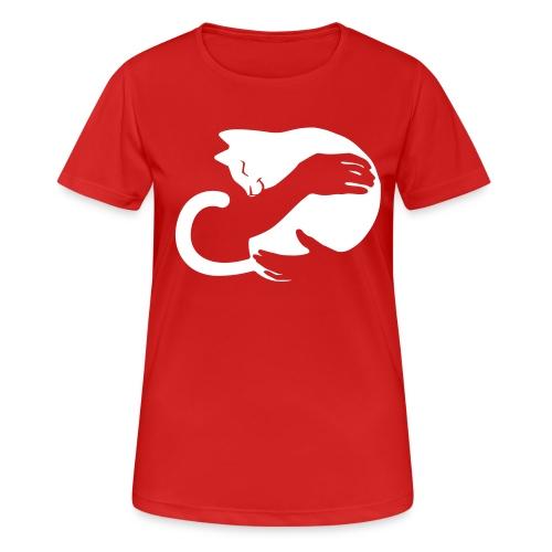 Vorschau: cat hug - Frauen T-Shirt atmungsaktiv
