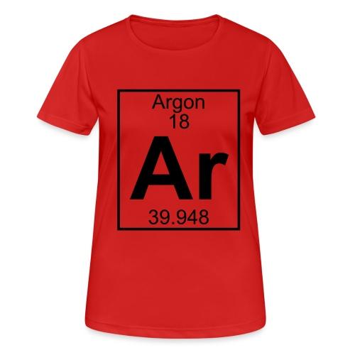 Argon (Ar) (element 18) - Women's Breathable T-Shirt