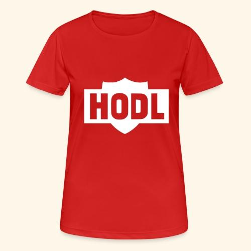 HODL TO THE MOON - naisten tekninen t-paita