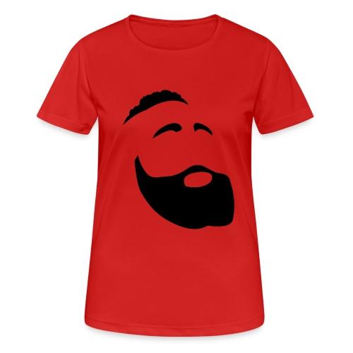Il Barba, the Beard black - Maglietta da donna traspirante