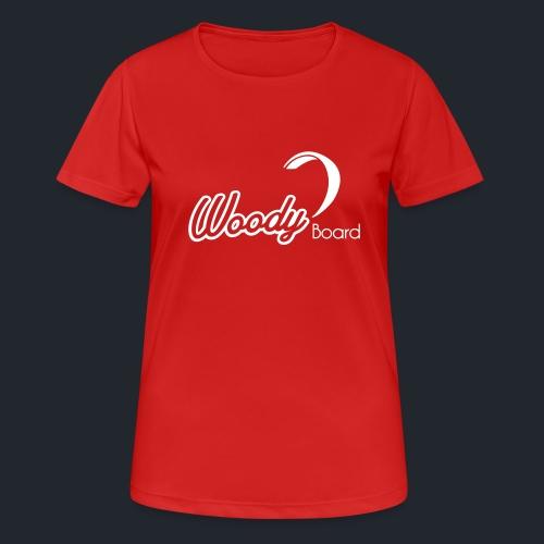 Logo Woodyboard Blanc - T-shirt respirant Femme