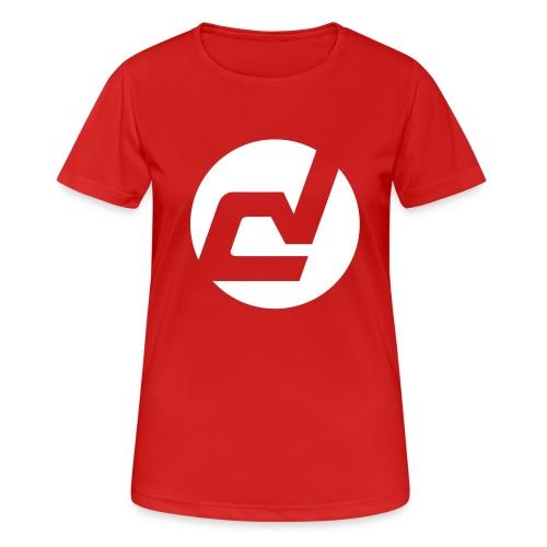 logo blanc - T-shirt respirant Femme