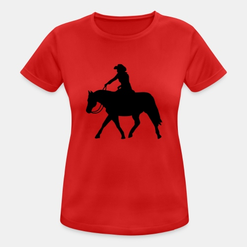 Ranch Riding extendet Trot - Frauen T-Shirt atmungsaktiv