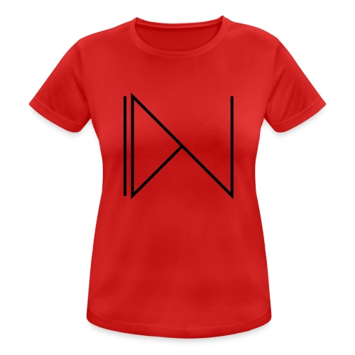 Icon on sleeve - vrouwen T-shirt ademend