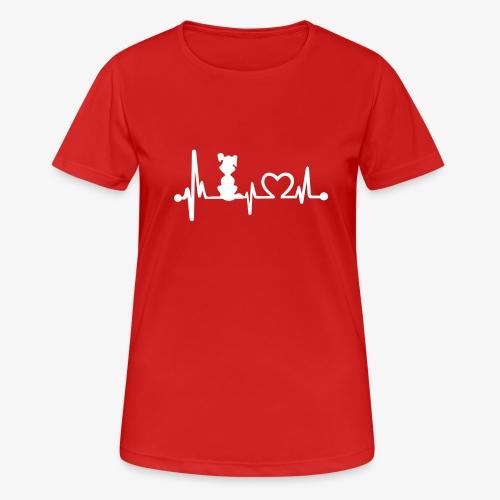 dog heart beat - Frauen T-Shirt atmungsaktiv