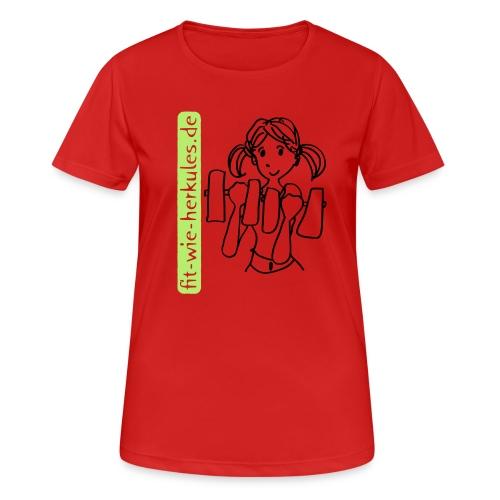 fitwieherkules.de Logo-Shirt - Frauen T-Shirt atmungsaktiv