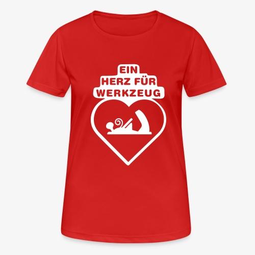 ein herz fuer werkzeug ho - Frauen T-Shirt atmungsaktiv