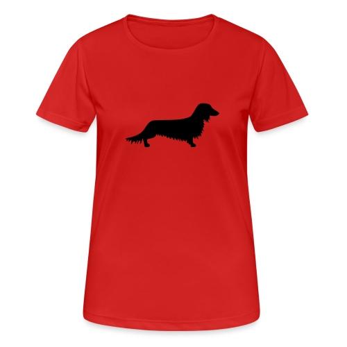 Langhaardackel - Frauen T-Shirt atmungsaktiv