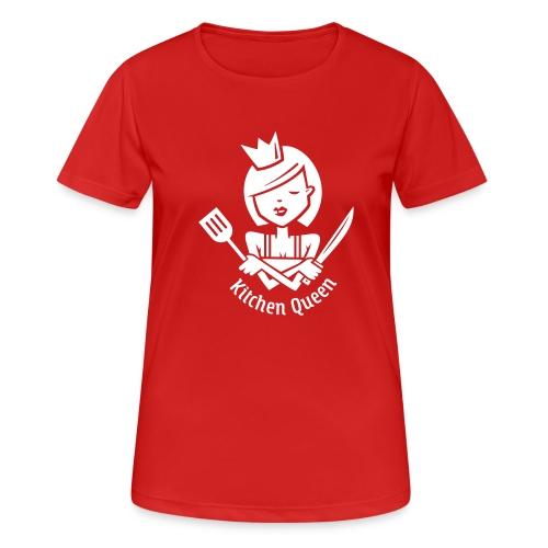VL126_KitchenQueen_1c_inv - Frauen T-Shirt atmungsaktiv