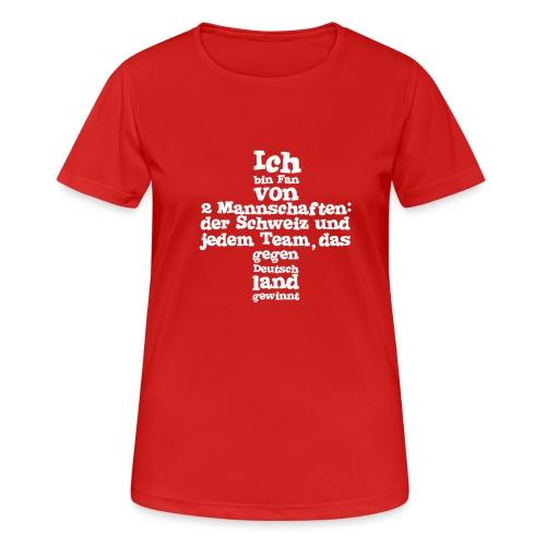 Fan von zwei Mannschaften - Frauen T-Shirt atmungsaktiv