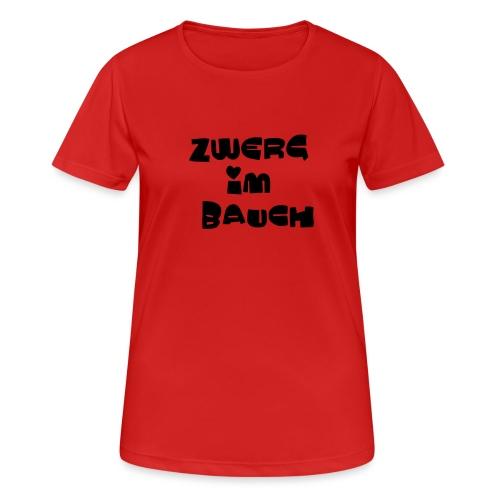 Zwerg im Bauch / Süßes Design für Schwangere - Frauen T-Shirt atmungsaktiv