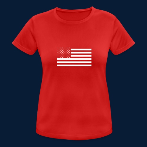 Stars and Stripes White - Frauen T-Shirt atmungsaktiv