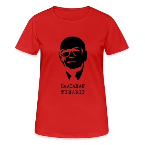 Kekkonen saatanan tunarit - naisten tekninen t-paita