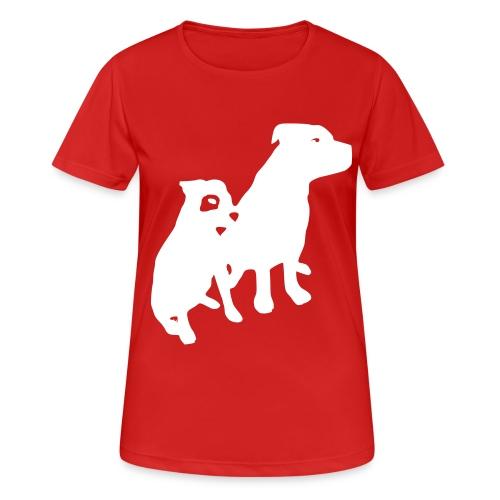 Doggy / zwei brave Hunde zum verschenken - Frauen T-Shirt atmungsaktiv