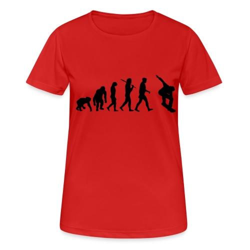 evolution_of_snowboarding - Vrouwen T-shirt ademend actief