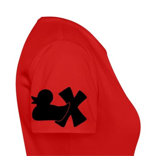 Ente mit X v3 3 klein - Frauen T-Shirt atmungsaktiv