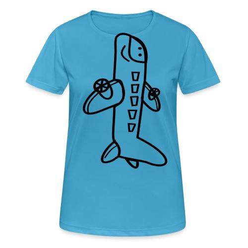 Hepi - PLANE(up) tee - Vrouwen T-shirt ademend actief