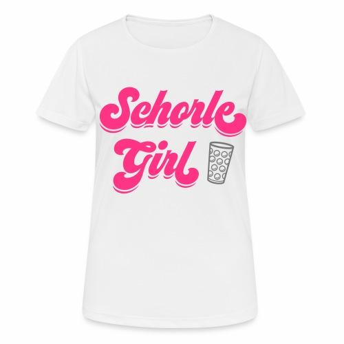 Schorle Girl und Dubbeglas - Frauen T-Shirt atmungsaktiv