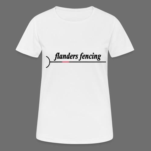 Flanders Fencing - Vrouwen T-shirt ademend actief