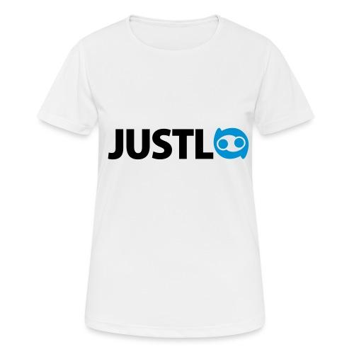 Justlo Logo - Frauen T-Shirt atmungsaktiv