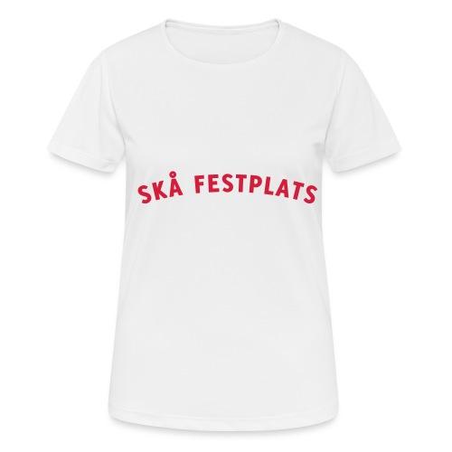Skå Festplats Logotyp Röd - Andningsaktiv T-shirt dam